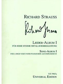 Richard Strauss: Lieder Album 1 (High Voice/Piano) Books | High Voice, Piano Accompaniment
