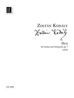Zoltán Kodály: Duo For Violin And Cello Op.7 Books | Violin, Cello