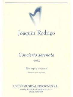 Rodrigo: Concierto Serenata Para Arpa Y Orquesta (Miniature Score) Libro | Arpa, Orquesta