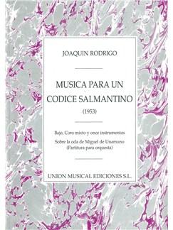 Musica Para Un Codice Salmantino (SATB/Orchestra) Books | Orchestra, Bass, Soprano, Alto, Tenor, Bass