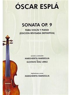 Oscar Espla: Sonata Op.9 Para Violin Y Piano Libro | Violín, Acompañamiento de Piano