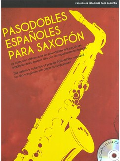 Pasodobles Españoles Para Saxofón Books and CDs | Saxophone, Piano Accompaniment