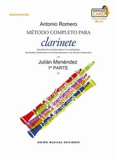 Julián Menéndez: Metodo Completo Para Clarinete De Antonio Romero - Part 1 (Libro/Download Card) Audio Digital y Libro | Clarinete