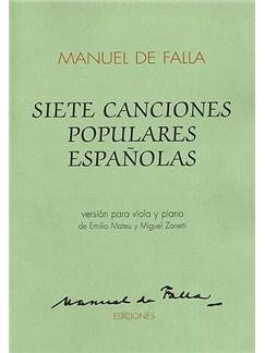 Manuel De Falla: Siete Canciones Populares Espanolas For Viola And Piano Books | Viola and Piano