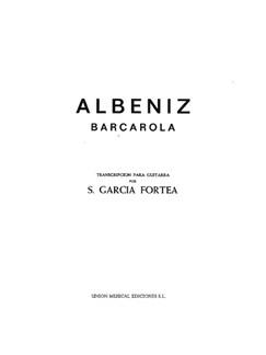 Isaac Albéniz: Barcarola Books | Guitar