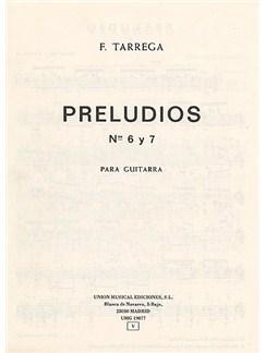 Francisco Tarrega: Preludios Nos. 6 & 7 Guitar Books | Guitar, Classical Guitar