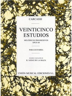 Carcassi: Twenty-five Estudios Progresivos Books | Guitar