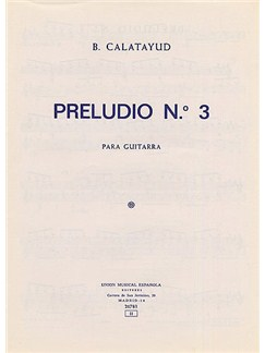 B. Calatayud: Preludio No.3 For Guitar Livre | Guitare