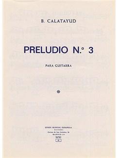 B. Calatayud: Preludio No.3 For Guitar Books | Guitar