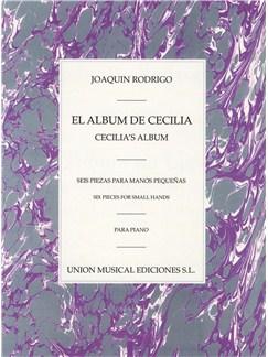 Rodrigo: El Album De Cecilia Para Piano Books | Piano