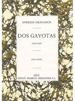 Granados Dos Gavotas Op.post Piano Books | Piano