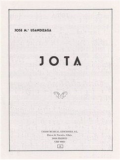 Jose Usandizaga: Jota Books | Piano