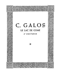 Giselle Galos: Nocturne (Le Lac De Come No.6) Libro | Piano