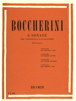 Luigi Boccherini: Six Sonatas For Cello Books | Cello, Piano Accompaniment