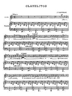 Joaquín Valverde Sanjuán: Clavelitos Zambra Gitana (Piano/Voice) Libro | Voz, Acompañamiento de Piano
