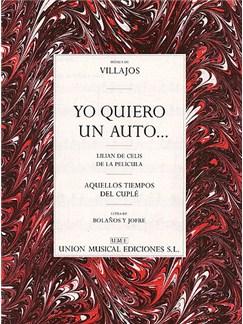 Villajos: Yo Quiero Un 'Auto'...(Charleston) Livre | Voix, Accompagnement Piano