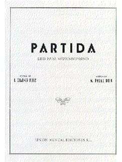M. Palau Boix: Partida Books   Soprano, Piano