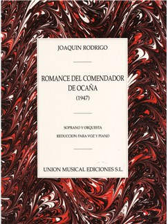 Joaquin Rodrigo: Romance Del Comendador De Ocana (Piano Reduction) Books | Voice, Piano