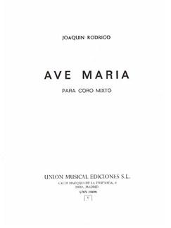 Joaquin Rodrigo: Ave Maria Libro | SATB