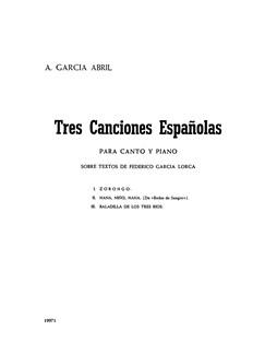 Anton Garcia Abril: Tres Canciones Espanolas Books | Piano, Voice