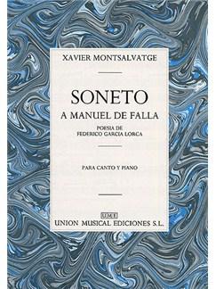 Xavier Montsalvatge: Soneto A Manuel De Falla Livre | Voix, Accompagnement Piano