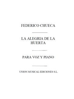 Chueca: Duo De La Alegria De La Huerta Books | Voice and Piano