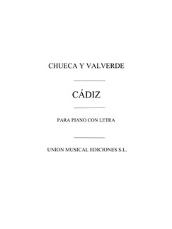 Chueca And Valverde: Cadiz Books | Piano