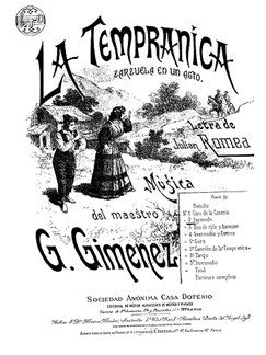 Geronimo Gimenez: Zapateado No.2 From La Tempranica For Voice And Piano Books | Voice & Piano