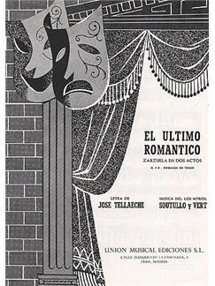 Soutullo Y Vert El Ultimo Romantico No.4b Tenor/piano Books | Voice