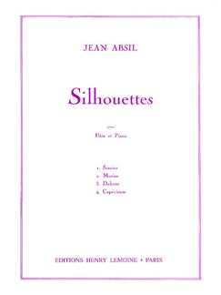 Jean Absil: Silhouettes Op.97 Books | Flute, Piano Accompaniment