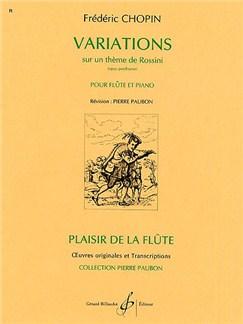 Frederic Chopin: Variations Sur Un Theme De Rossini Books   Flute, Piano Accompaniment