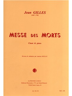 Jean Gilles: Messe Des Morts - Choral Score Books   SATB