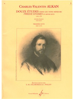 Charles-Henri-Valentin Alkan: 12 Etudes dans les Tons mineurs Op.39, Suite No.1 (Piano solo) Books   Piano