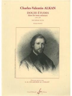Charles-Henri-Valentin Alkan: 12 Etudes dans les Tons mineurs Op.39, Suite No.2 (Piano solo) Books   Piano
