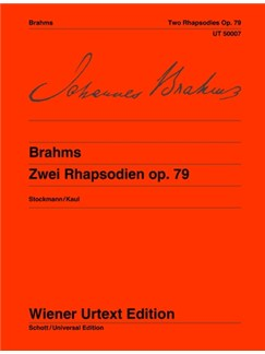 Johannes Brahms: 2 Rhapsodies Op. 79 Books | Piano