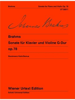 Johannes Brahms: Sonata Op.78  G Books | Violin, Piano Accompaniment