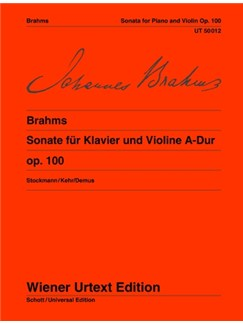 Johannes Brahms: Sonata Op.100  A Books | Violin, Piano Accompaniment