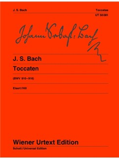 J.S. Bach: Toccatas BWV 910-916 - With Early Versions Of BWV 912 And 913 And Ornamented Version Of BWV 916 Books | Piano