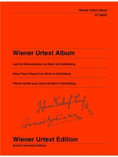 Wiener Urtext Album: Easy Piano Pieces From Bach To Schönberg Books | Piano