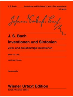 J.S. Bach: Inventions And Symphonies BWV 772-801 - Two And Three Part Inventions Books | Piano
