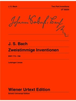 Johann Sebastian Bach: Two-Part Inventions BWV 772-786 Books | Piano