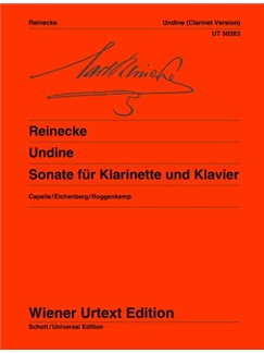 Carl Heinrich Carsten Reinecke: Undine Sonata Books | Clarinet, Piano Accompaniment