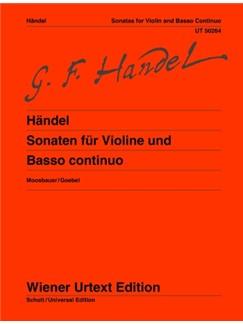 George Frideric Handel: Sonatas Books | Violin, Continuo