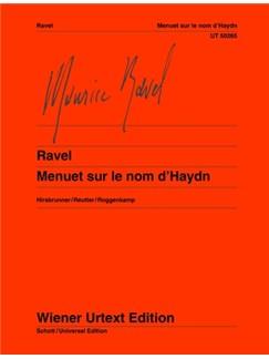 Maurice Ravel: Menuet Sur Le Nom D'Haydn Books | Piano