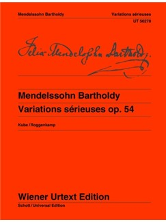 Felix Mendelssohn Bartholdy: Variations Sérieuses Op.54 Books | Piano
