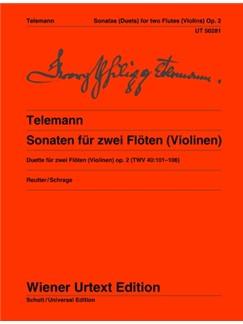 Georg Philipp Telemann: 6 Sonatas For 2 flutes (Or Violins)   Op. 2 TWV 40:101-106 Books | Flute(Duet), Violin(Duet)