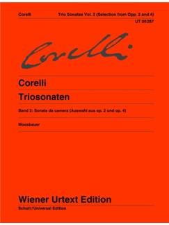 Arcangelo Corelli: Trio Sonatas Vol. 2: Sonate Da Camera (Selection) Books | Cello, Violin, Harpsichord Accompaniment