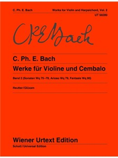 Carl Philipp Emanuel Bach: Sonatas For Violin And Cembalo Vol. 2 (Wq 75-78, Arioso Wq 79, Fantasie Wq 80) Books | Violin, Harpsichord Accompaniment