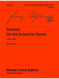 Franz Schubert: 3 Scherzi D 593 (Bb, Db), D570 (D) Books | Piano