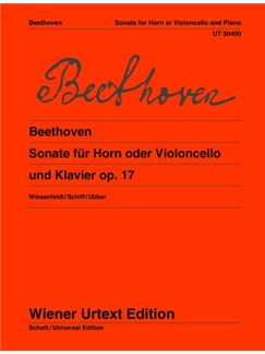 Ludwig Van Beethoven: Sonata Op. 17 Books | French Horn, Piano Accompaniment